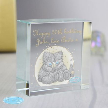 Personalised Me To You Gold Stars Crystal Token - Medium